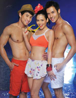 Orange Strappy sports bra in VietBeauty Magazine