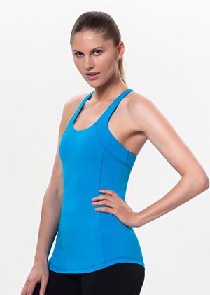 T for 2 Sports Top Blue Front