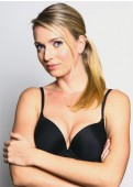 BASIC Push-up Bra (Black) Full view