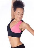 Pink/Black Yin Yang Sports Bra Full View