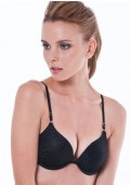Push-up Lace Plunge Bra Full View
