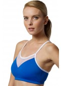 Sports bra blue front view