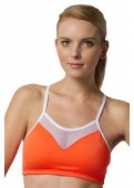 Push Up Sports Bra Orange Front View