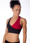 Burgundy/Black Yin Yang Sports Bra Full View