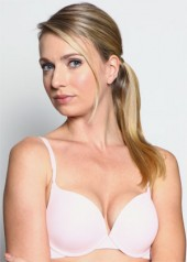 BASIC Push-up Bra (Powder Pink) Full view