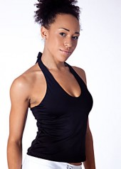 Black Tankini Sports Top Full View